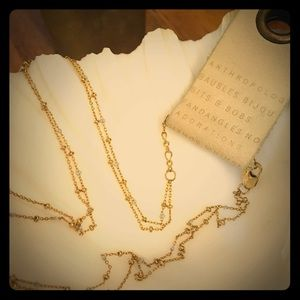 Anthropologie delicate layering necklace